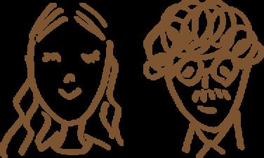 2人が描かれているイラスト